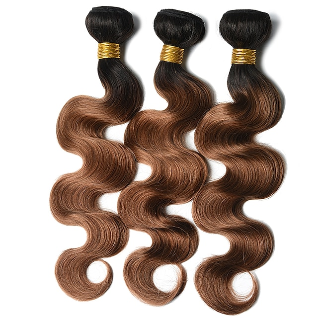 Ishow 2 Bundles Human Hair Weaves 8A Quality Hair Color Body Wave 1B 30# Hair Curtain 100% Human Peruvian Wig 2 Pieces Combination Set 10-24 Inch Hair Extensions