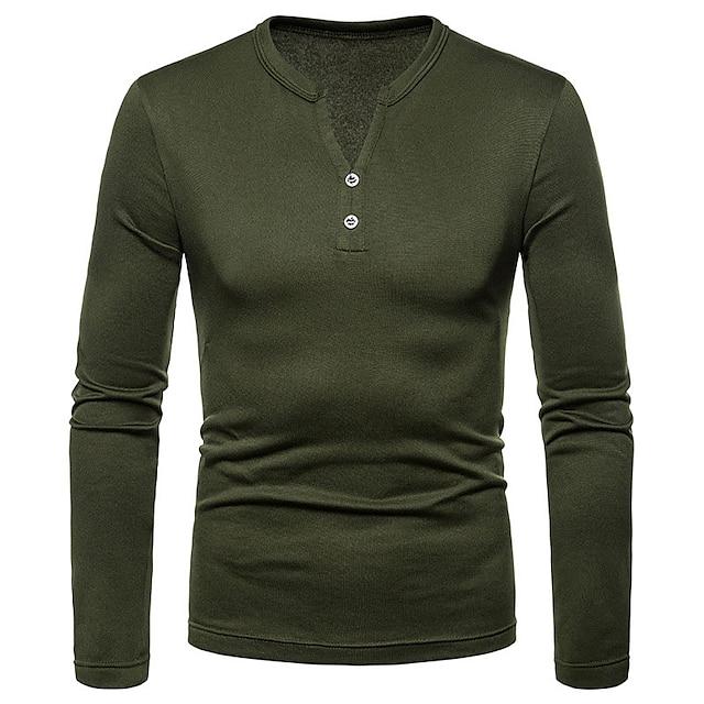 LITB Basic Men's Thicken Shirt Long Sleeve Shirt Winter Thick Comfy Warm Wear