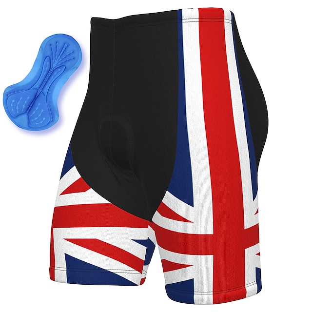 21Grams Men's Cycling Shorts Summer Spandex Polyester Bike Shorts Pants Padded Shorts / Chamois 3D Pad Quick Dry Moisture Wicking Sports National Flag Red Mountain Bike MTB Road Bike Cycling Clothing