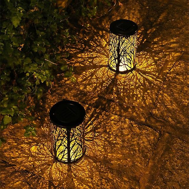 ηλιακά φώτα εξωτερική αδιάβροχη ηλιακή λάμπα κήπου κρέμονται ηλιακά φανάρια ρετρό κοίλα ηλιακά φώτα προβολέα με λαβή για αυλή αυλή