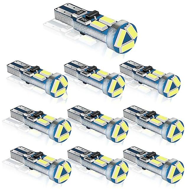 10 шт. T5 w3w w1.2w 70 73 74 79 85 супер яркий 4014 светодиодный индикатор подогрева приборной панели автомобиля клин лампочка авто инструмент лампа dc12v