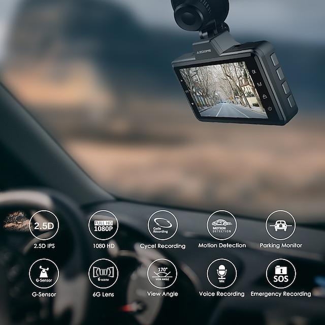 azdome 1080p full hd wideorejestrator samochodowy 170 stopni szeroki kąt cmos kamera na deskę rozdzielczą z rejestratorem samochodowym adas