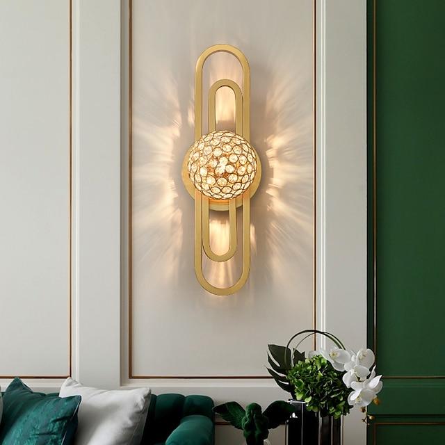 светодиодные настенные светильники свет роскошный хрустальный настенный светильник постмодерн простая гостиная американская скандинавская спальня прикроватная лестница фон стены коридор хрустальное