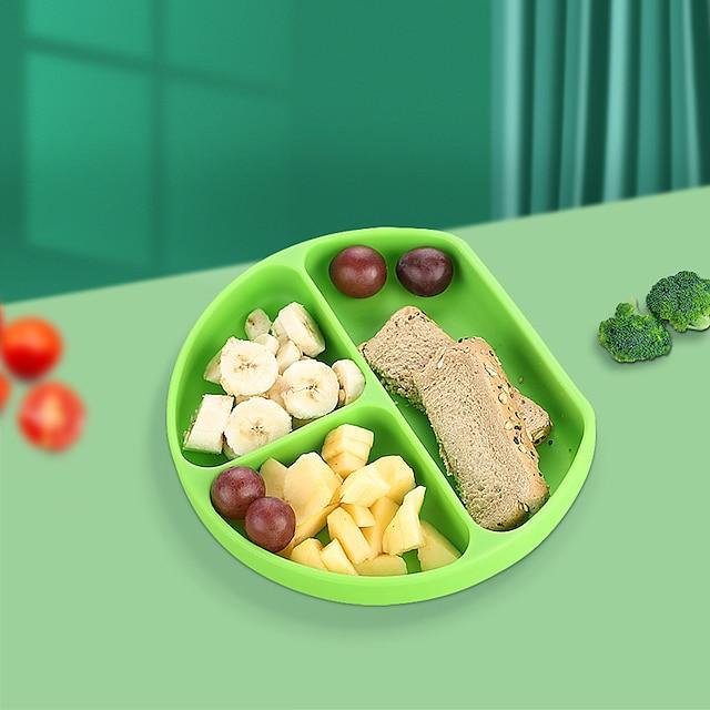 bol à ventouse pour bébé ensemble d'alimentation en silicone intégré sans bpa vaisselle ménage silicone grille pliante boîte à lunch
