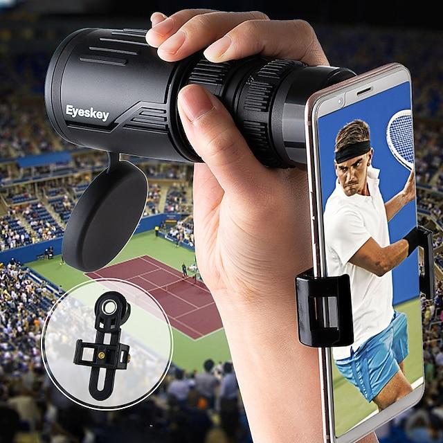 eyeskey 8-24 x 42 hd zoom monocular prisma bak4 con soporte para teléfono inteligente cámara visión nocturna baja revestimiento multirresistente senderismo caza y pesca al aire libre caucho de