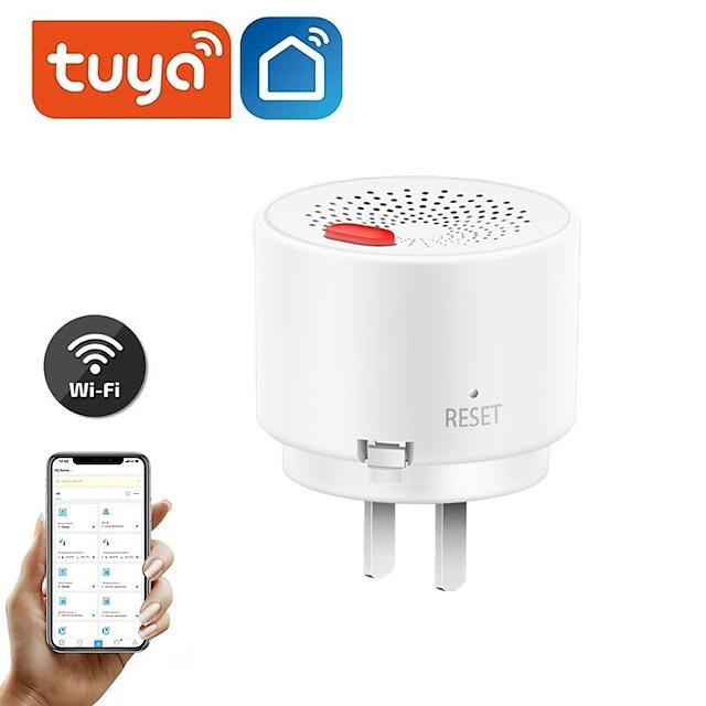 Tuya smart life fuite de gaz détecteur de monoxyde de carbone wifi gpl naturel ch4 méthane combustible fuite charbon alarme capteur plug in