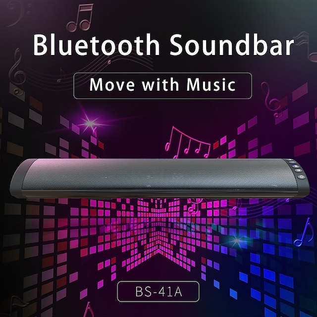 BS-41A Soundbar Wireless Bluetooth TF Card Portable Speaker For Laptop Mobile Phone