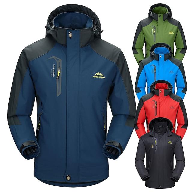 Outdoorsport Men's Fleece-Lined Rain Jacket