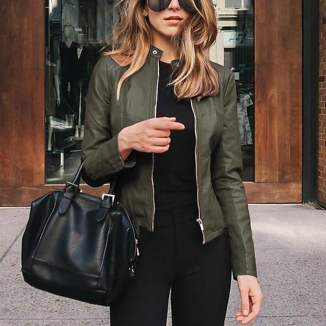 여성용 자켓 일상 모든계절 & 가을 보통 코트 V 넥 보통 캐쥬얼 자켓 긴 소매 솔리드 모던 스타일 푸른 퍼플