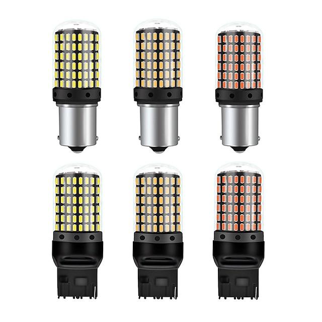 LED-pære 1156 1157 3157 7440 7443 7441992 LED-pære høj effekt 4014 144 chipsæt super lyse 1000 lumen udskiftes til blinklys back up bageste bremse hale stop parkering RV lyssams (pakke med 2)