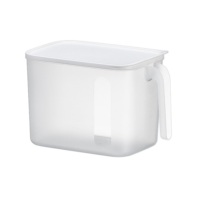 Household Kitchen Storage Storage Box Frosted With Lid Can Be Superimposed Snack Storage Box Refrigerator Miscellaneous Food Storage Basket