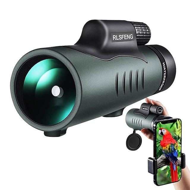 10 X 42 mm أحادي ضد الماء محمول نقي جداً ضعف الرؤية الليلية 131 m تغطية متعددة BAK4 التخييم / التنزه / الكهوف استخدام اليومي رياضة تسلق الجبال / الطيور تراقب