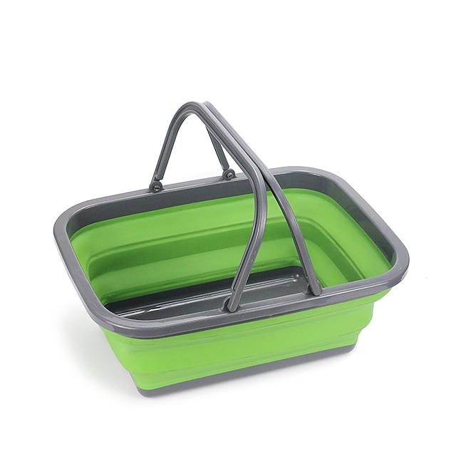 frugtkurv folde spand 9,5 l grøn blå rød køkken opbevaring og organisering