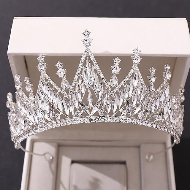 forseven 바로크 수제 다채로운 크리스탈 라인 스톤 크라운 multicolor tiara 웨딩 액세서리 신부 웨딩 머리 장식 jl