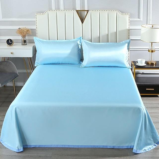 Tapis d'été tapis en soie glacée drap de lavage trois pièces tapis de climatiseur pliant avec taie d'oreiller en soie glacée