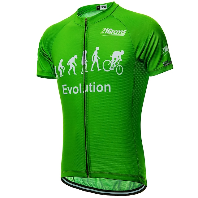 21Grams Men's Short Sleeve Cycling Jersey Summer Yellow Red Black Evolution Bike Jersey Top Mountain Bike MTB Road Bike Cycling UV Resistant Quick Dry Moisture Wicking Sports Clothing Apparel