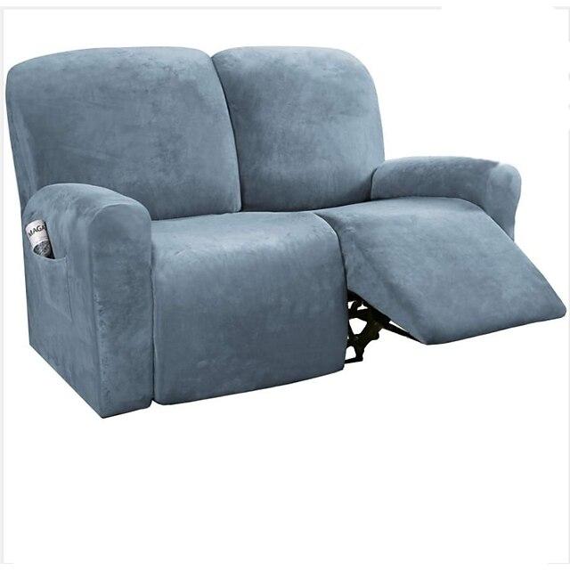 housse de canapé inclinable sectionnelle 1 ensemble de 6 pièces microfibre extensible haute élastique housse de canapé en velours de haute qualité housse de canapé pour 2 sièges canapé inclinable