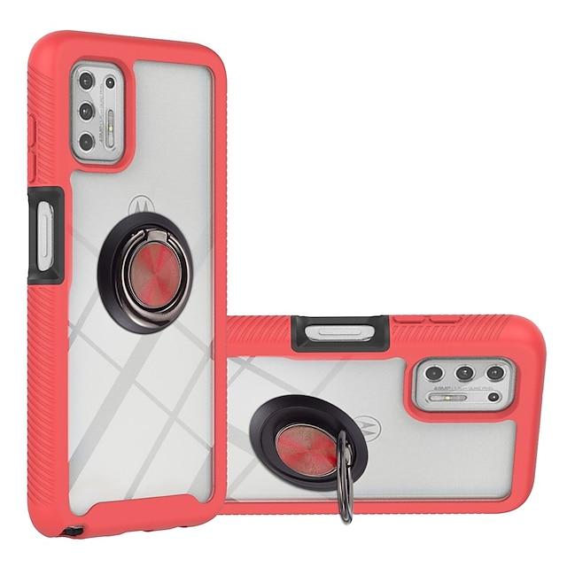 телефон Кейс для Назначение Motorola Кейс на заднюю панель Moto G9 Power MOTO G9 PLAY Moto G Power Moto G Stylus Защита от удара Защита от пыли Кольца-держатели Прозрачный Однотонный ТПУ