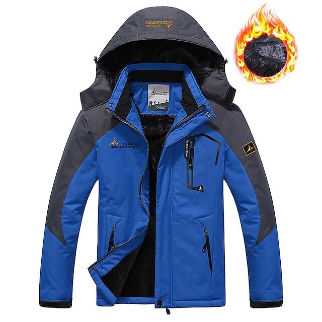 chaqueta de esquí para hombre chaqueta de lana softshell chaqueta impermeable para la lluvia invierno al aire libre térmico cálido rompevientos a prueba de viento gabardina superior ropa de abrigo esquí camping senderismo casual denim azul rojo verde