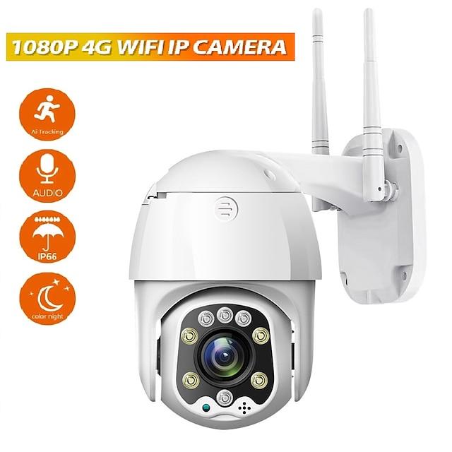 Fény a dobozban Szabadtéri IP kamera 1080P (1920 × 1080) PTZ Kupola Skorpió WIFI 4G Vízálló Mozgásérzékelő PoE Szabadtéri Kert Támogatás / CMOS