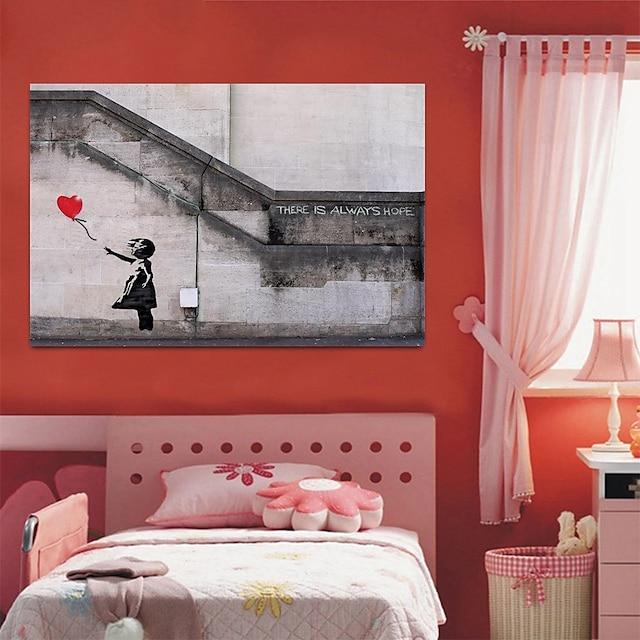 настенное искусство печать на холсте живопись произведение искусства картина черный белый девушка воздушный шар украшение дома декор свернутый холст без рамки без рамы нерастянутый