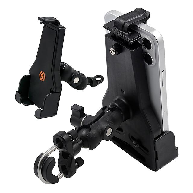 Suport Telefon Mașină Suport pentru biciclete și motociclete Suport Mașină Suport telefon Ajustabil 360 ° Rotație Aliaj de aluminiu Accesorii de Mobil iPhone 12 11 Pro Xs Xs Max Xr X 8 Samsung Glaxy