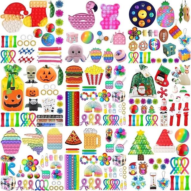 42 buc jucării fidget pachet squeeze jucărie anti stres jucărie set marmură relief cadou pentru copii adulți senzorial anti-stres relief figet cutie