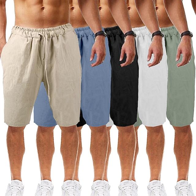 pánské šortky na jógu šortky šňůrky na spodní prádlo bermudy šortky odvod vlhkosti rychlé sušení prodyšné jednobarevné bílé černé modré příležitostné jóga fitness tělocvična cvičení letní sporty