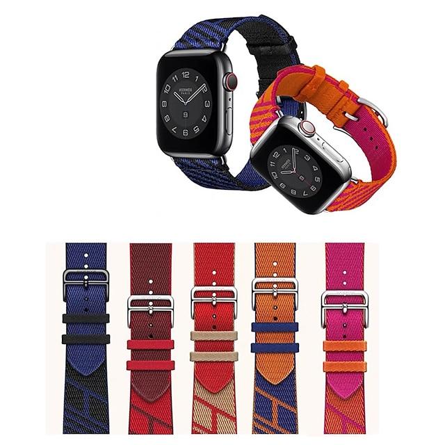Correa de Smartwatch para Apple  iWatch 1 pcs Hebilla Clásica Pulsera de tejido Nailon Reemplazo Correa de Muñeca para Apple Watch Series 7 / SE / 6/5/4/3/2/1