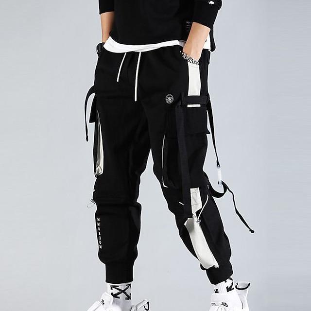 erkek kargo pantolonu çok cepli streetwear pantolon hiphop punk jogger spor harem pantolon bahar sonbahar