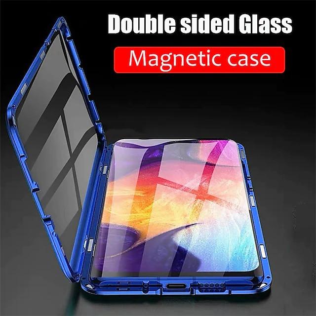 τηλέφωνο tok Για Samsung Galaxy Πλήρης Θήκη Θήκη μαγνητικής προσρόφησης S21 S21 Plus S21 Ultra S20 Plus S20 Ultra S20 S9 S9 Plus S8 Plus S8 Μαγνητική Διπλής όψης Διάφανο Μονόχρωμο