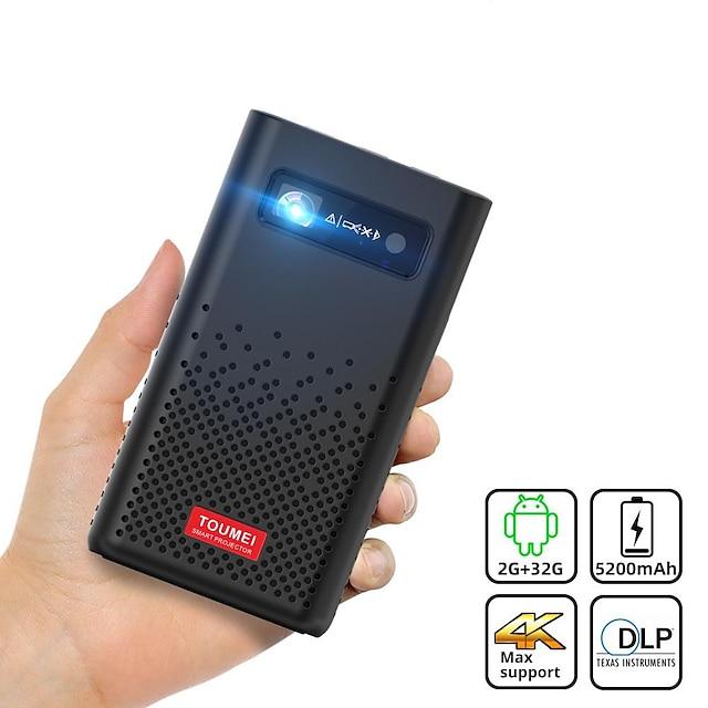 toumei C900 Mini projektor LED Projektor 100-1999 lm Android / Android 9.0 WIFI projektor