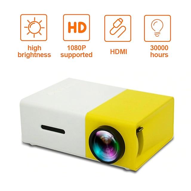 yg300 heimkino kino usb hdmi av sd mini tragbare hd led lcd projektor beamer hause media movie player unterstützung 1080 p av usb sd karte 320 x 240 hdmi / usb / av / cvbs für büro zu hause schule