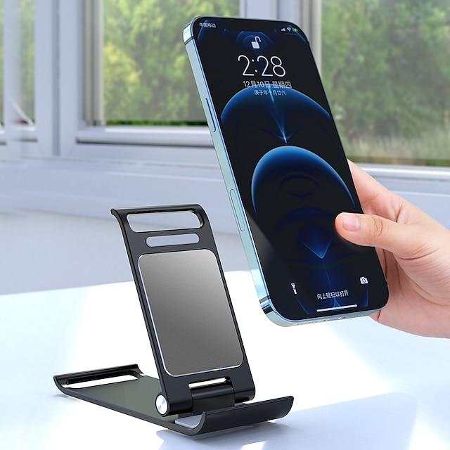 Montaje para Soporte de Teléfono Cama Baño Plegable Soporte Ajustable Soporte para teléfono Ajustable Silicona Aleación de aluminio Accesorio para Teléfono Móvil iPhone 12 11 Pro Xs Xs Max Xr X 8