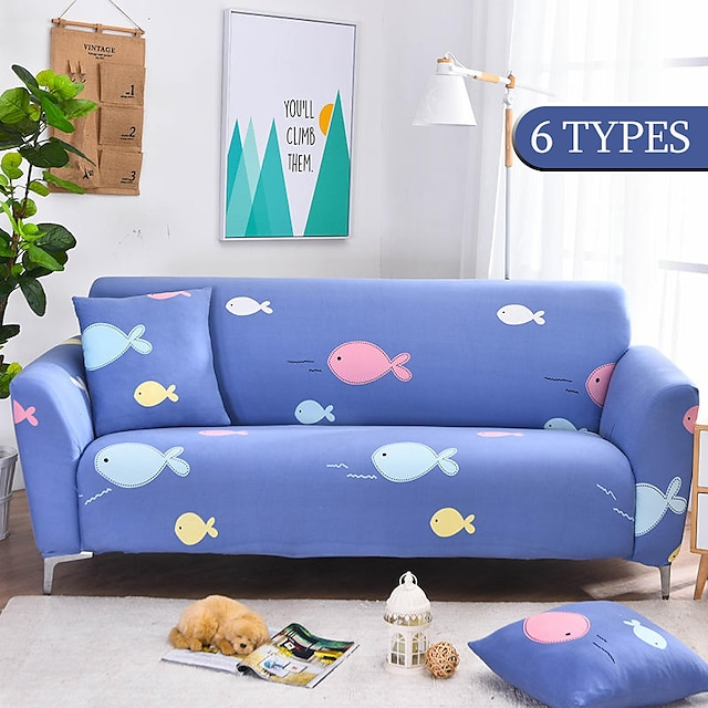 Stretch Cute Animal Sofa Slipcover Elastic Sofa Covers for Living Room funda sofa Chair Couch Cover Home Decor 1/2/3/4-seater and L Shape SofaEasy to Install
