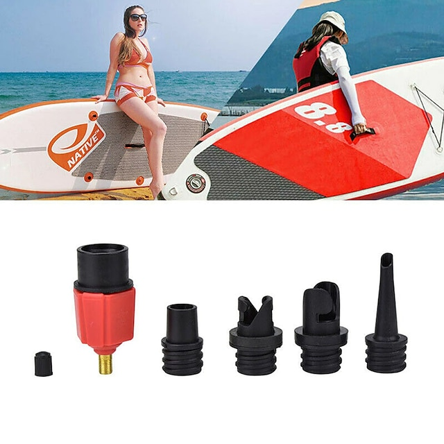 techting sup воздушный насос адаптер надувной весло резиновая лодка каяк адаптер воздушного клапана шинный компрессор преобразователь 4 сопла