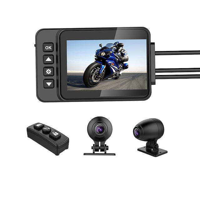 sameuo-q3 ocelová kamera pro motocykl rcycle 4k vodotěsný videorekordér dvr pro motocyklovou jednotku