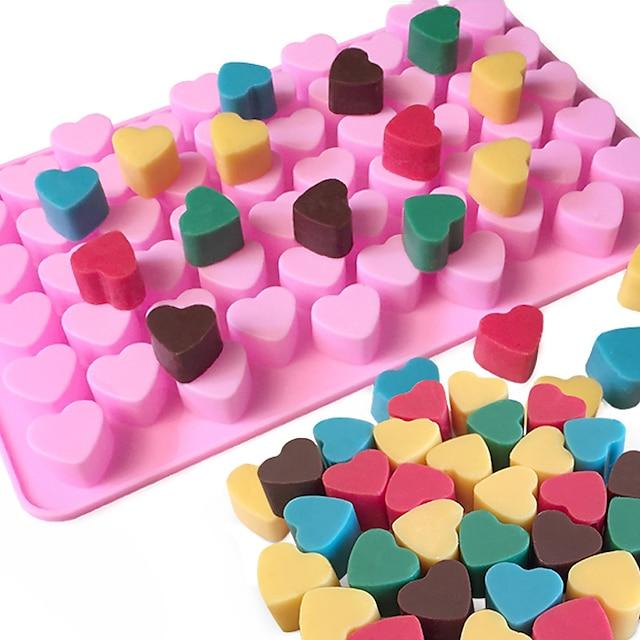 55 หลุมไม่ติดซิลิโคนเค้กช็อคโกแลตรักหัวใจรูปแม่พิมพ์ bakeware อบวุ้นน้ำแข็งหัวใจแม่พิมพ์
