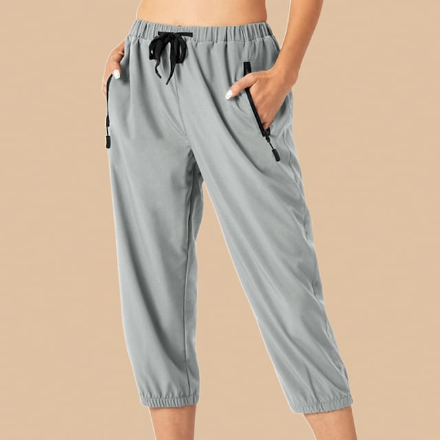 LITB Basic Women's Casual Sporty Chino Moisture Wicking Breathable Soft Daily Weekend Pants Sweatpants Pants Solid Color Calf-Length Sporty
