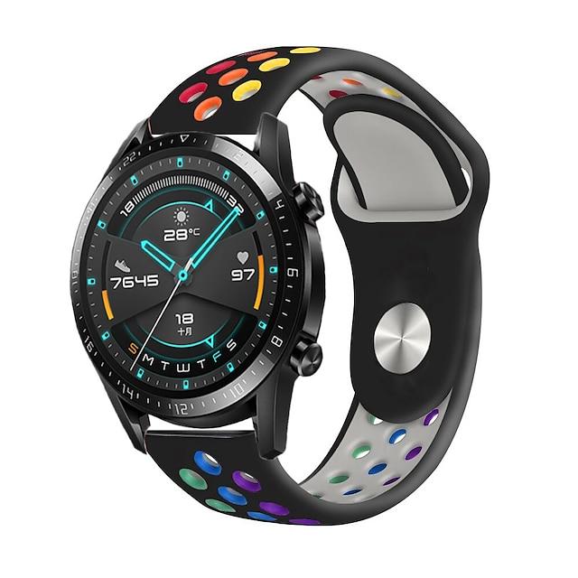 Bracelet de montre connectée pour Samsung Galaxy Huawei Bracelet Sport Boucle Moderne Silicone Remplacement Sangle de Poignet pour Montre Samsung Galaxy Active 2 Huawei GT2e Huawei GT 2e Sport Huawei