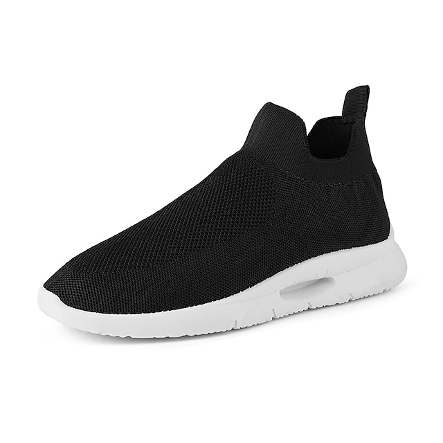 Men's Unisex Trainers Athletic Shoes Sporty Casual Classic Athletic Daily Running Shoes Tissage Volant Black / White White Black Fall Winter