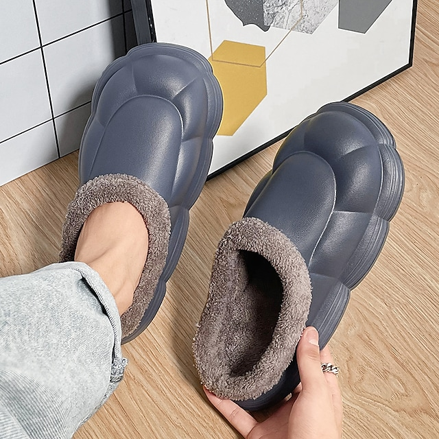Men's Unisex Slippers & Flip-Flops Casual Home Daily Walking Shoes Synthetics Blue Gray Fall Winter