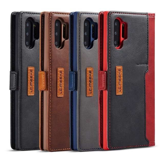 telefon Ügy Kompatibilitás Huawei tabletek Héjtok Bőrtok P20 P20 Pro P20 lite P30 P30 Pro P30 Lite Huawei Mate 30 Lite Pénztárca Ütésálló Egyszínű PU bőr
