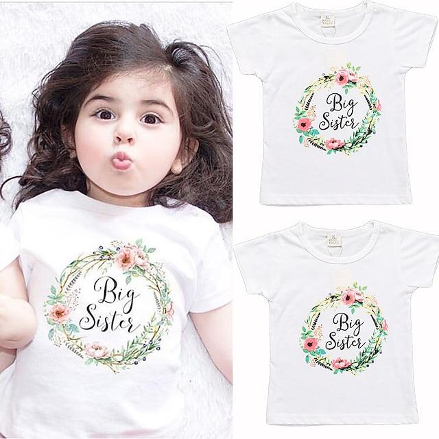 Μωρό Κοριτσίστικα Βασικό Γράμμα Άλλες εκτυπώσεις Κοντομάνικο Κοντομάνικη μπλούζα Κοντομάνικο Λευκό