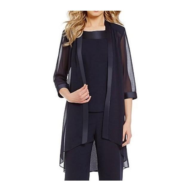 3/4 Length Sleeve Coats / Jackets Chiffon Wedding Women's Wrap With Splicing