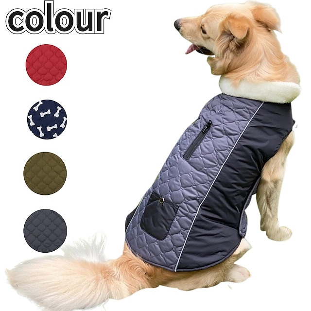 autumn and winter pet clothing double-sided dog clothes that can wear outdoor new pet clothes dog coat