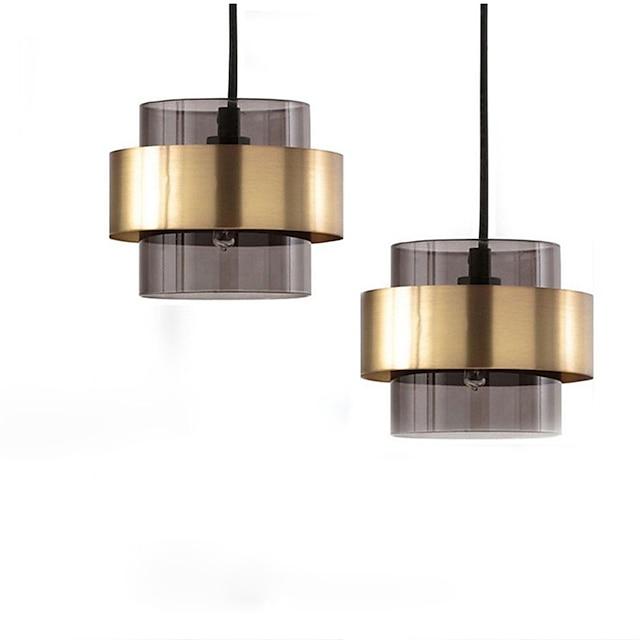18 cm Single Design Pendant Light LED Metal Modern Style Cylinder Painted Finishes Modern Nordic Style 220-240V
