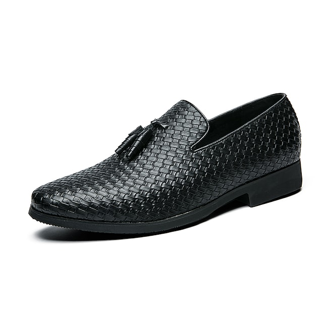 Men's Loafers & Slip-Ons Business Casual Vintage Daily Party & Evening Synthetics Black Fall Winter
