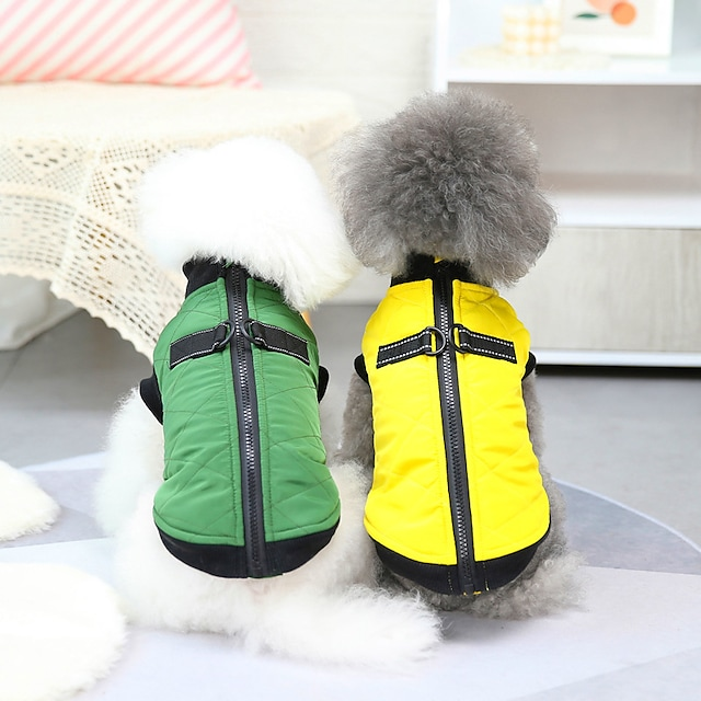 pet clothes dog clothes autumn and winter clothes bullfight coat teddy small dog pet clothes 21 pull button cotton vest