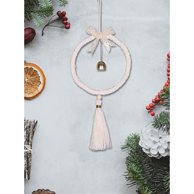 Bohemian home decoration bowknot bell wind chimes wall hanging wall ornaments dream catcher tassel hanging wall hanging pendant